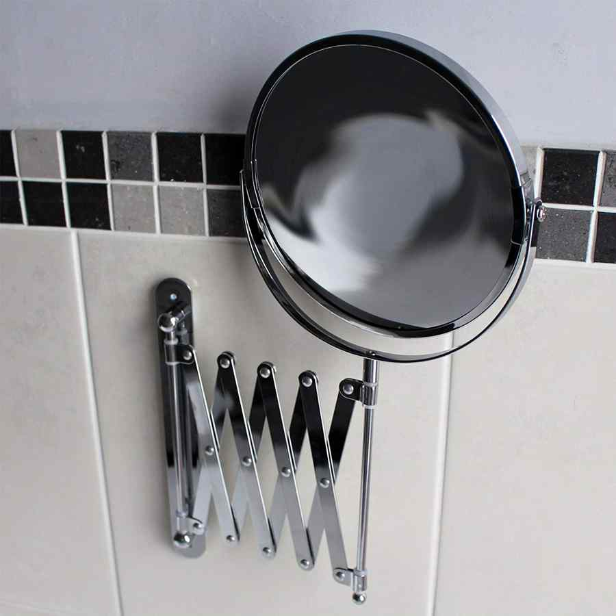 espejo extensible de baño giratorio