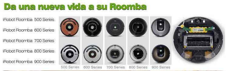 tipos de baterias para iRobot Roomba