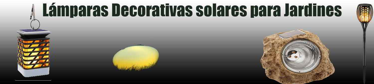 lámparas decorativas solares leds